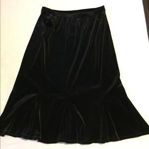 Velvet Tulip Kick Pleat Skirt